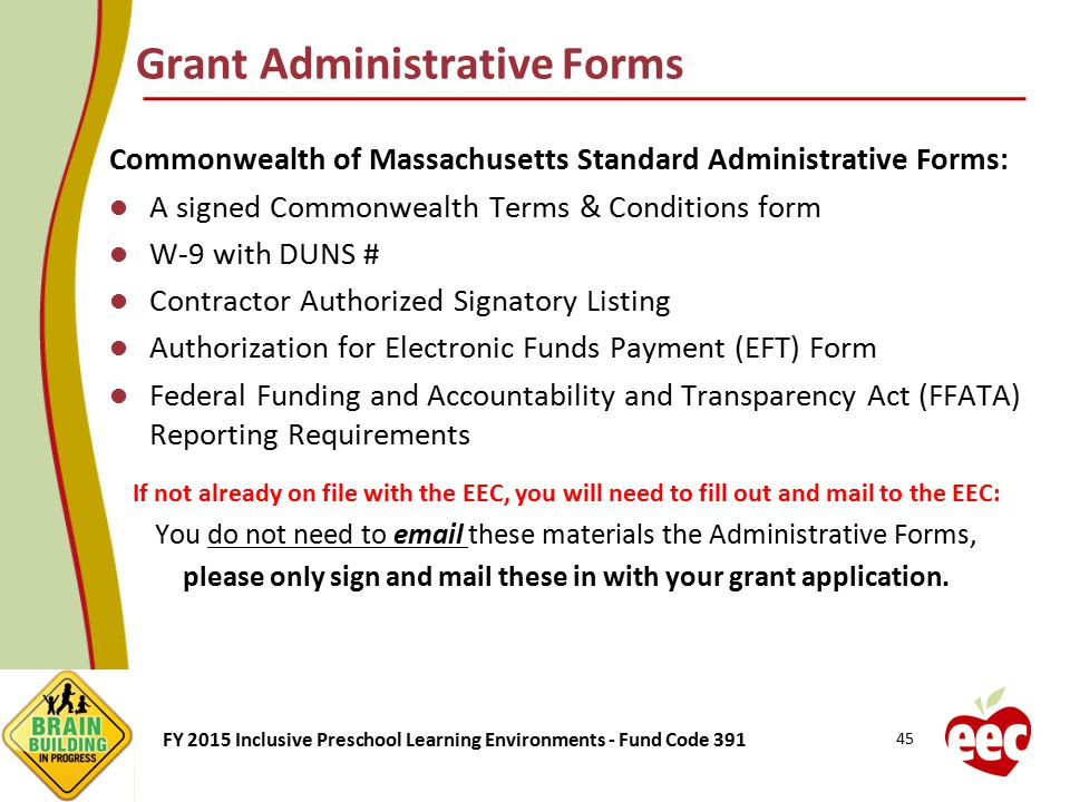 Grant Administrative Forms