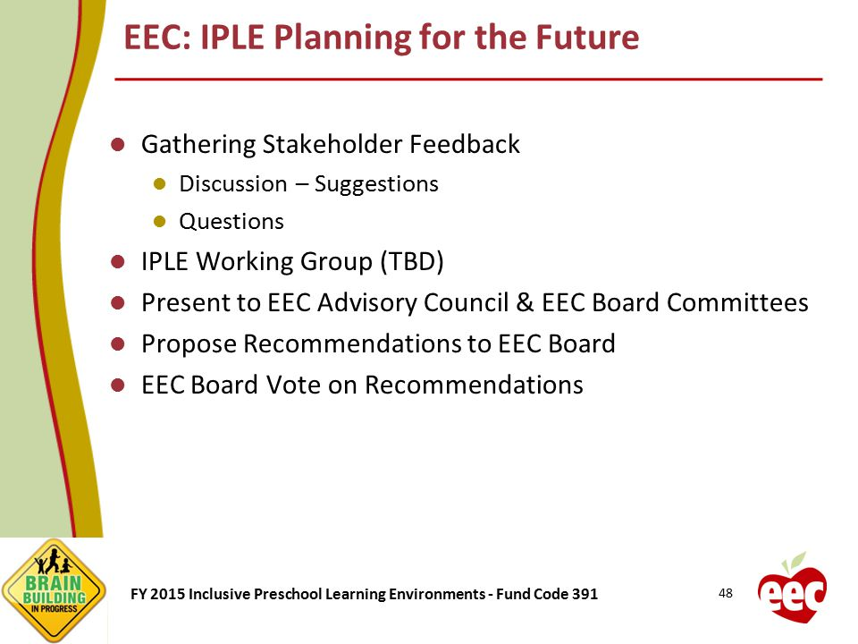 EEC: IPLE Planning for the Future