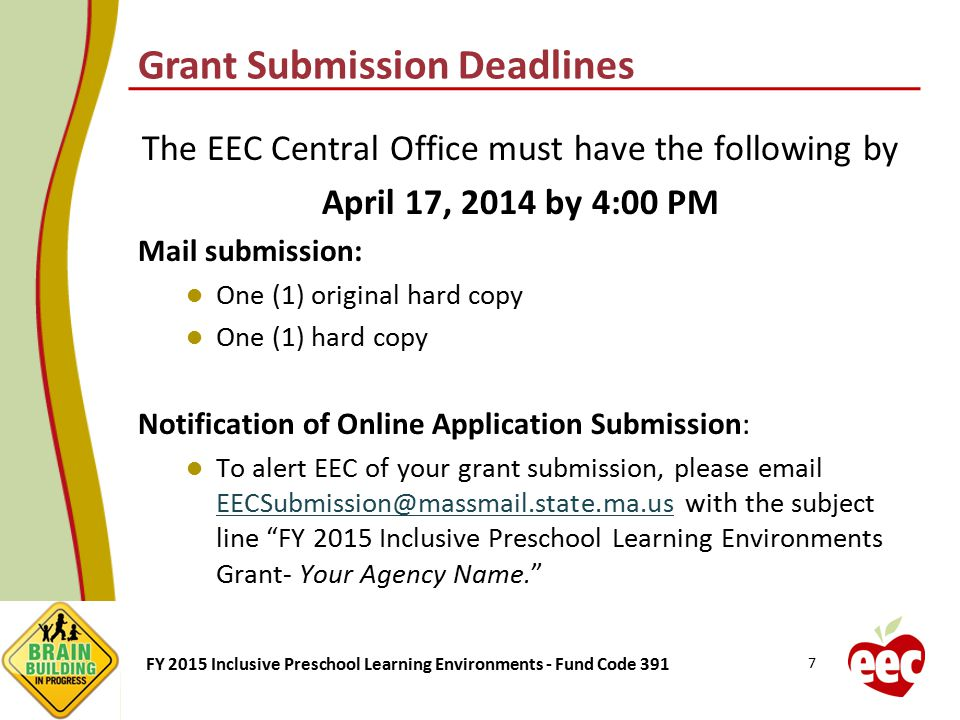 Grant Submission Deadlines