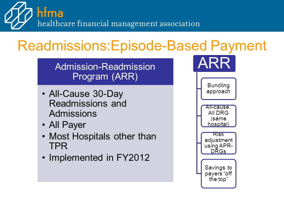 Readmissions:Episode-Based Payment