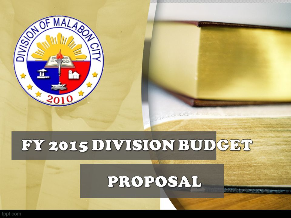 FY 2015 DIVISION BUDGET PROPOSAL