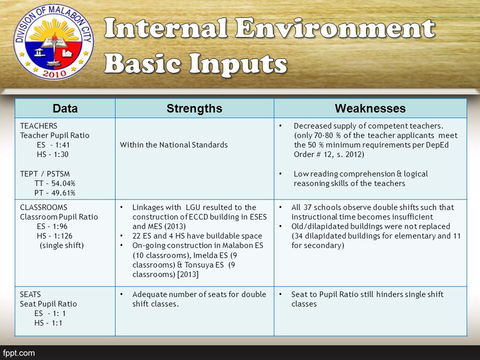 Internal Environment Basic Inputs