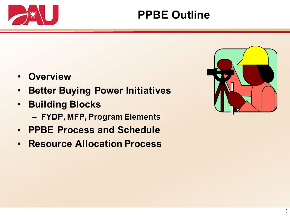 PPBE Outline Overview Better Buying Power Initiatives Building Blocks