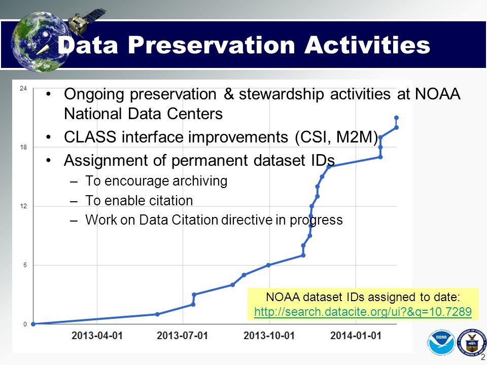 Data Preservation Activities