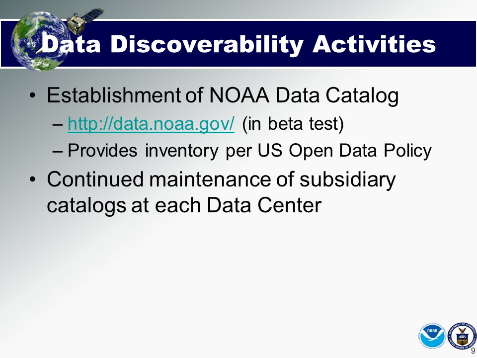 Data Discoverability Activities