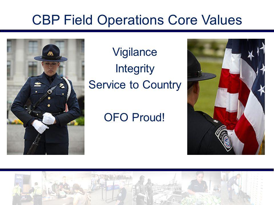 CBP Field Operations Core Values