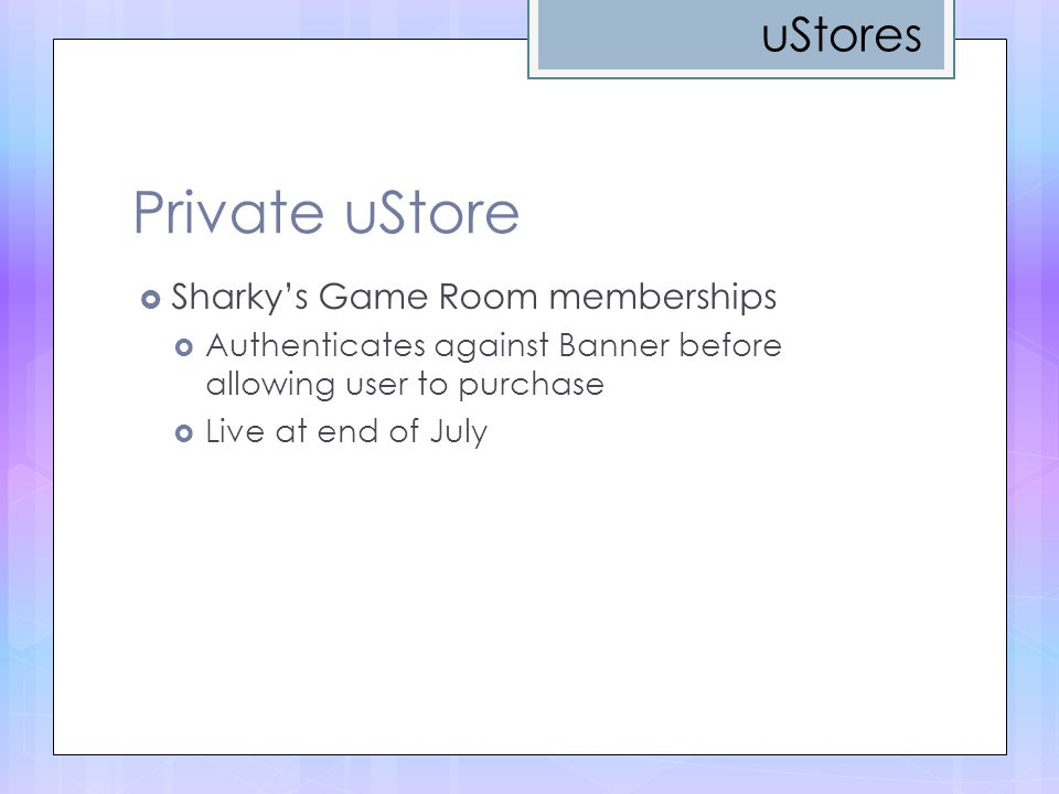 Private uStore uStores Sharky's Game Room memberships