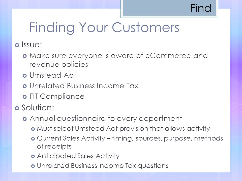 Finding Your Customers