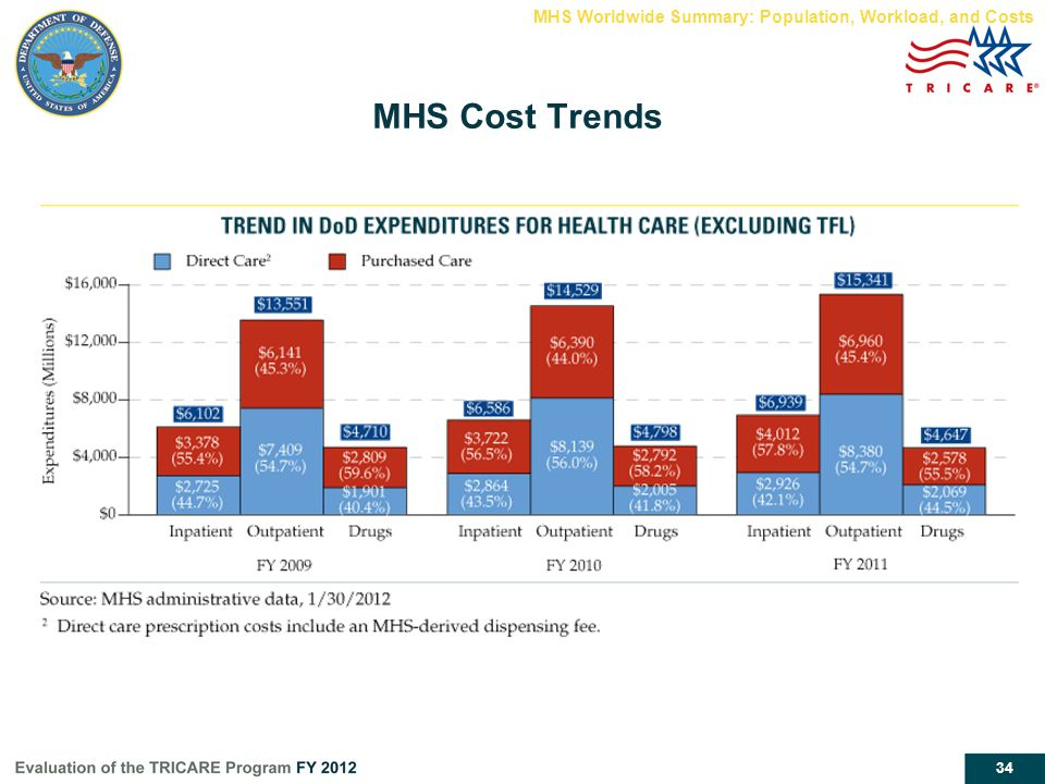 MHS Cost Trends MHS Worldwide Summary: Population, Workload, and Costs