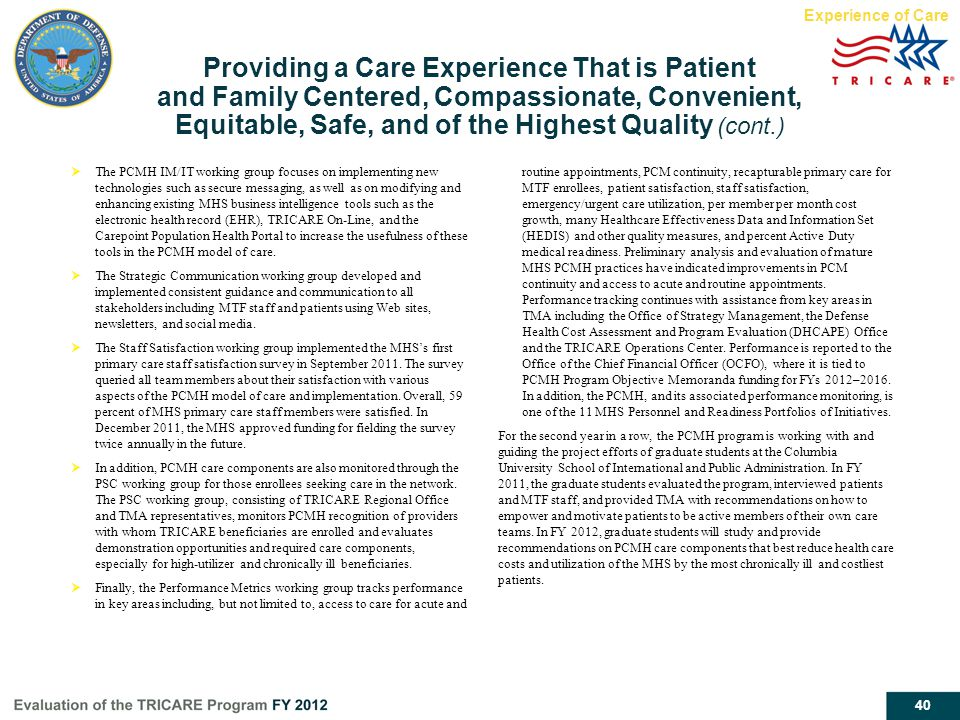 Experience of Care