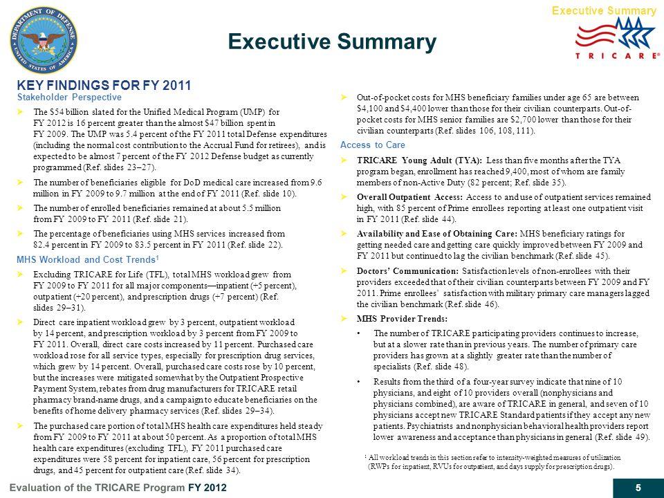 Executive Summary KEY FINDINGS FOR FY 2011 Executive Summary