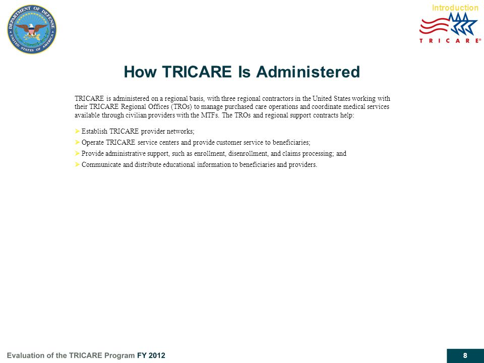How TRICARE Is Administered