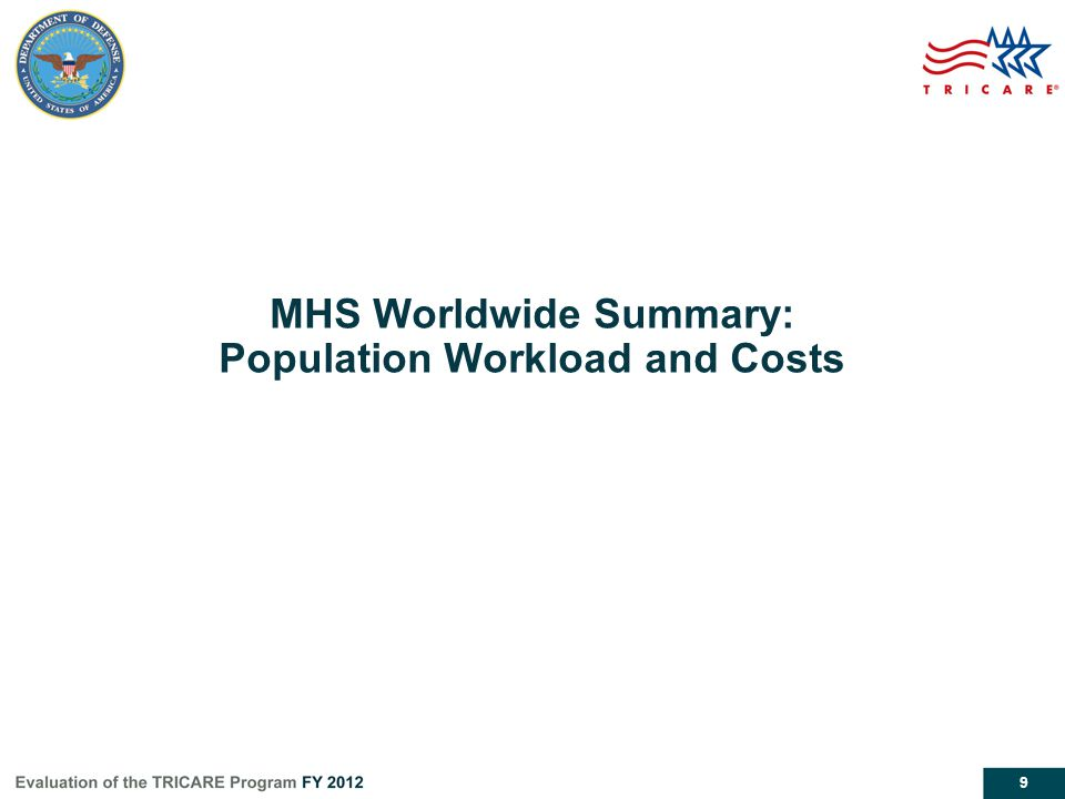 MHS Worldwide Summary: Population Workload and Costs
