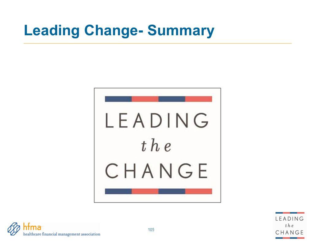 Leading Change- Summary