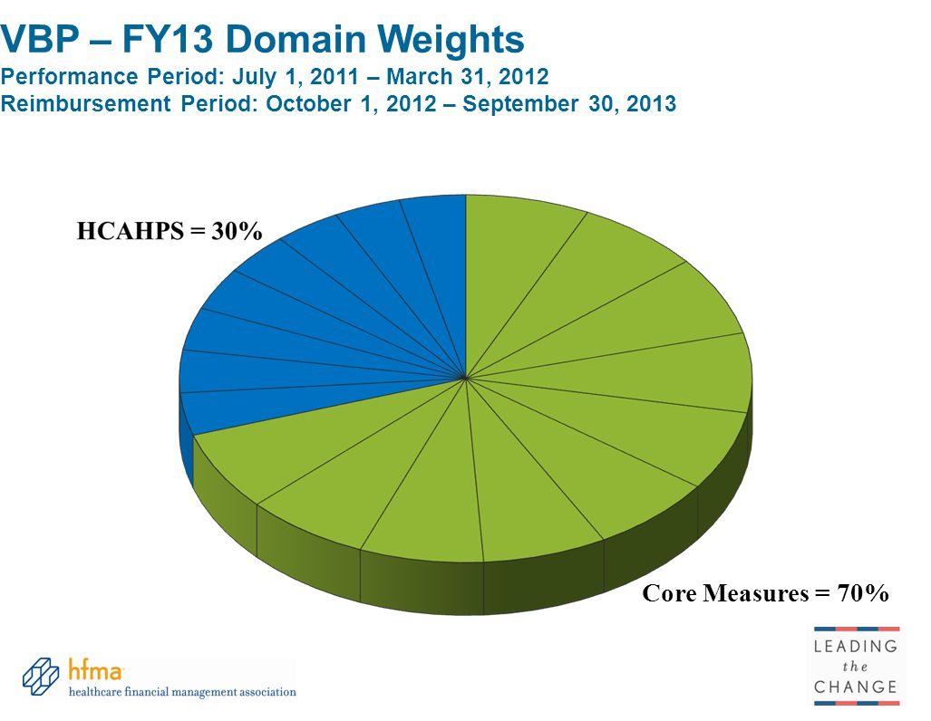 VBP – FY13 Domain Weights Performance Period: July 1, 2011 – March 31, 2012 Reimbursement Period: October 1, 2012 – September 30, 2013