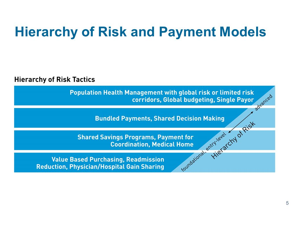 Hierarchy of Risk and Payment Models