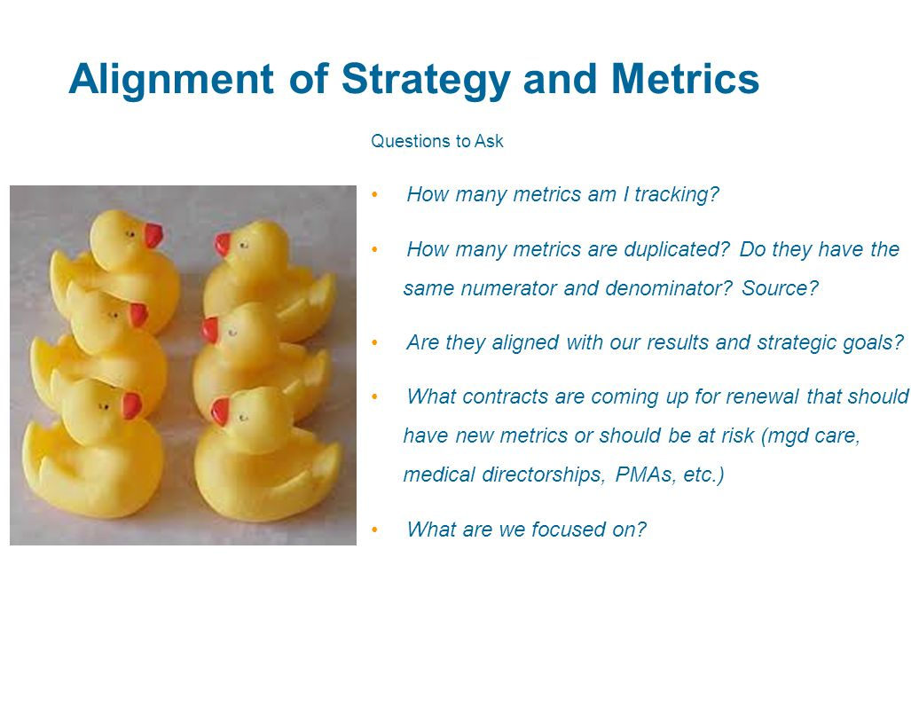 Alignment of Strategy and Metrics