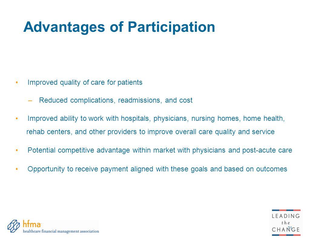 Advantages of Participation