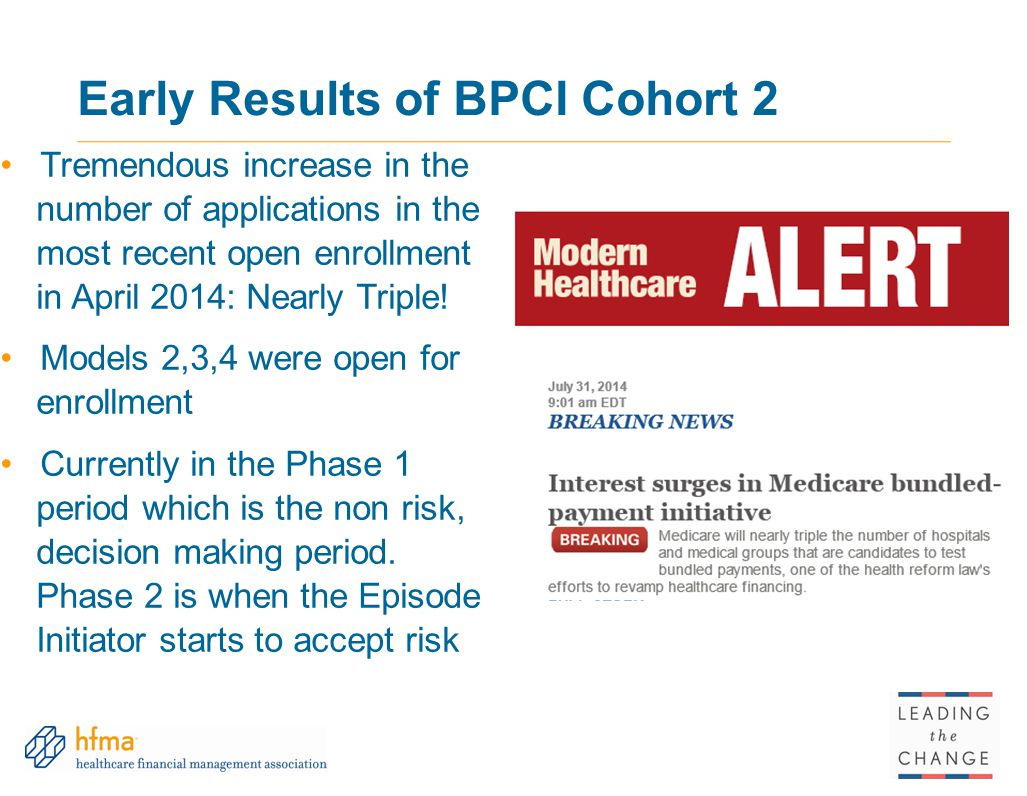 Early Results of BPCI Cohort 2