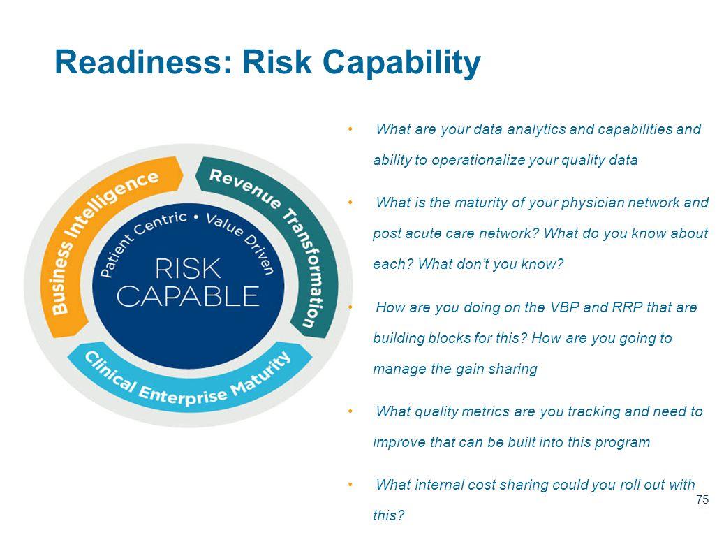 Readiness: Risk Capability