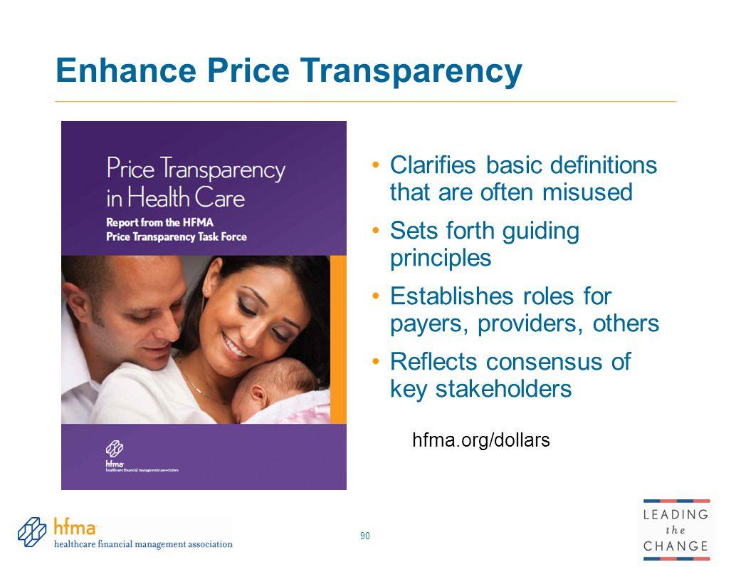 Enhance Price Transparency
