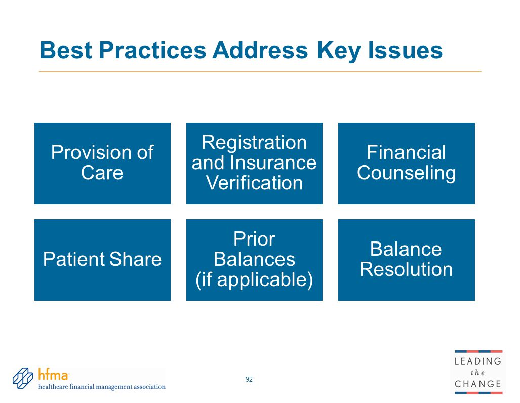Best Practices Address Key Issues