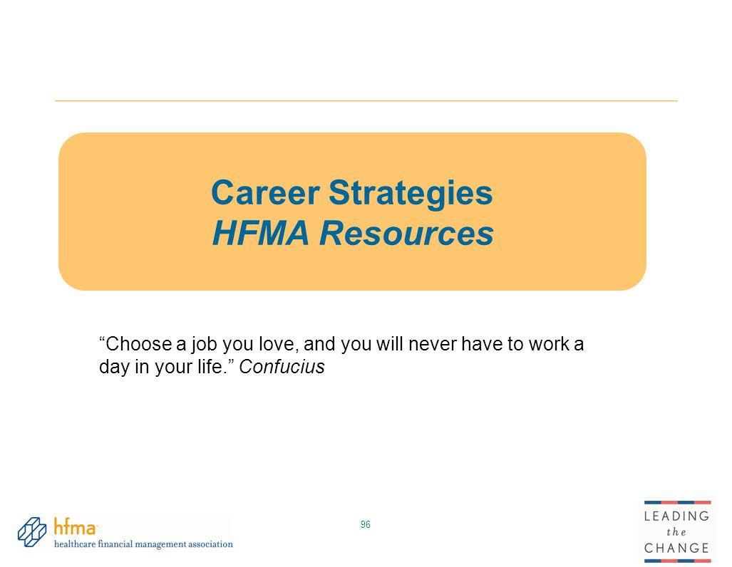 Career Strategies HFMA Resources