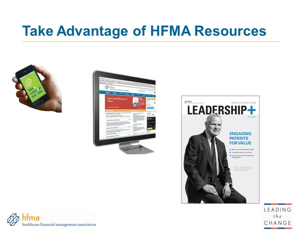 Take Advantage of HFMA Resources