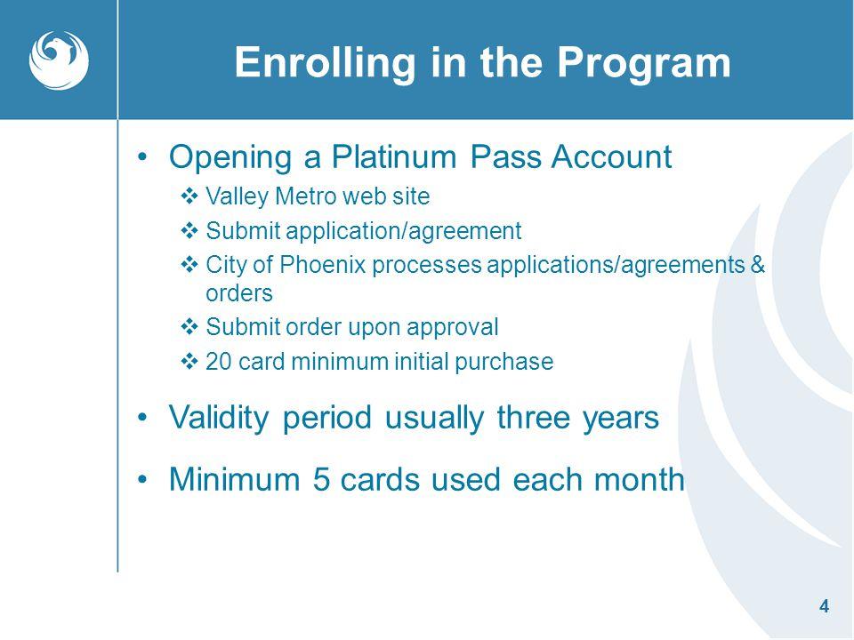 Enrolling in the Program