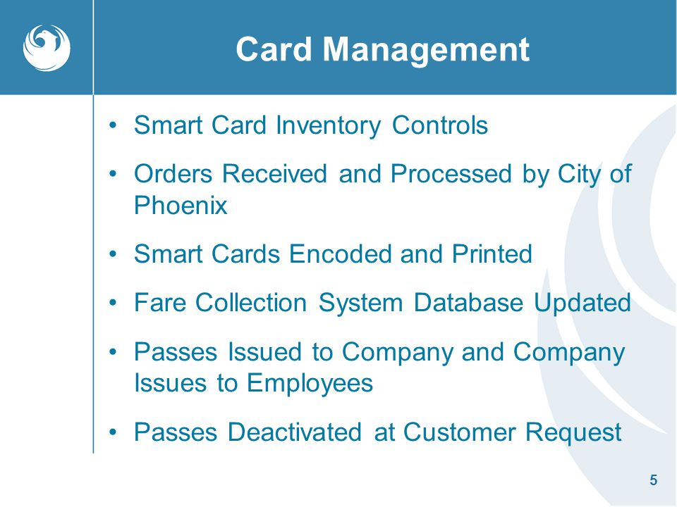 Card Management Smart Card Inventory Controls