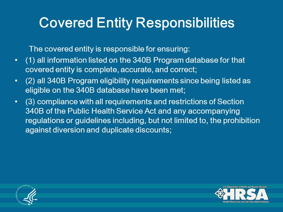 Covered Entity Responsibilities