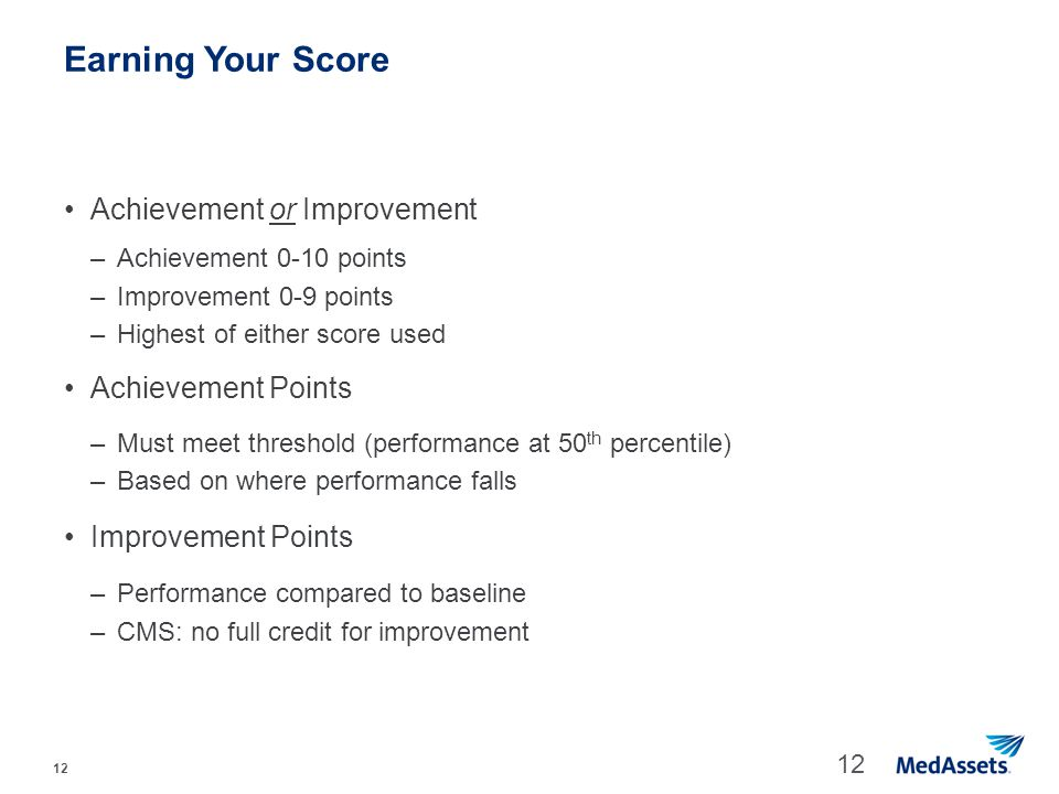 Earning Your Score Achievement or Improvement Achievement Points