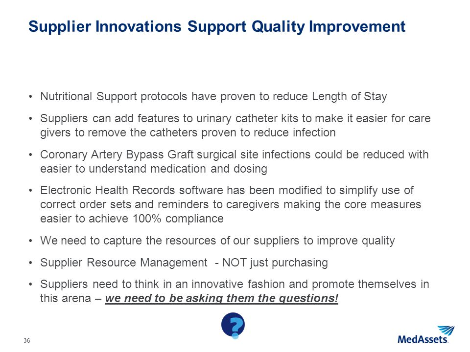 Supplier Innovations Support Quality Improvement
