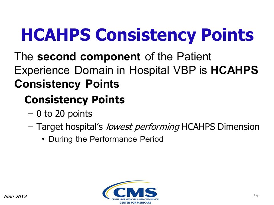 HCAHPS Consistency Points