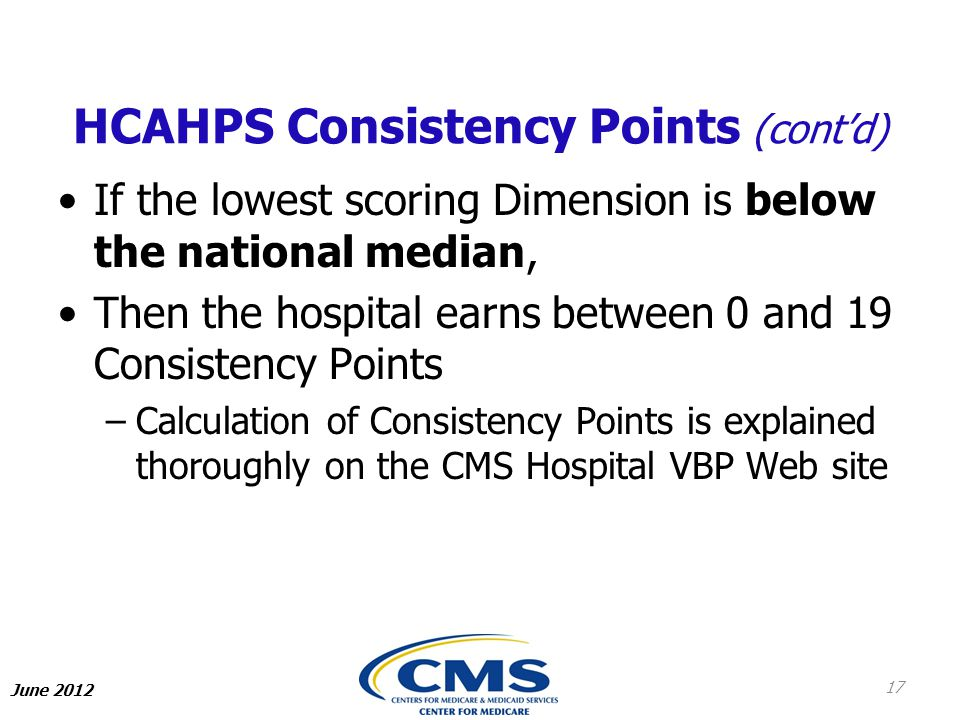 HCAHPS Consistency Points (cont'd)