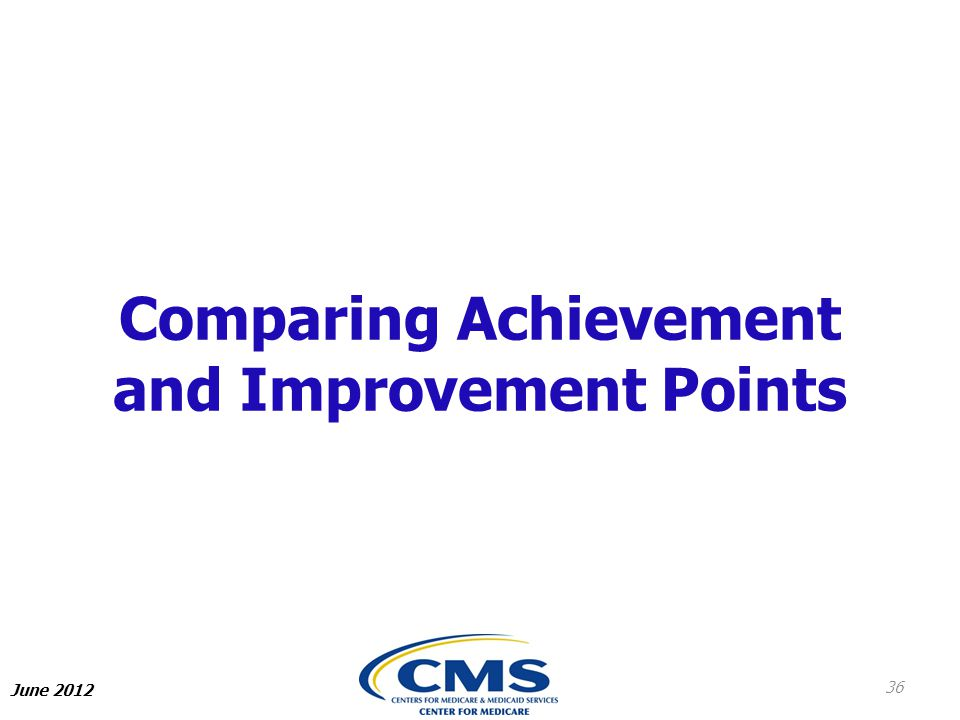 Comparing Achievement and Improvement Points