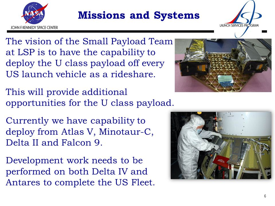 Missions and Systems