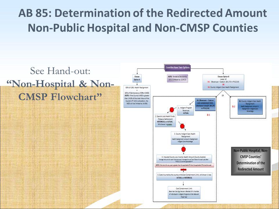 Non-Hospital & Non-CMSP Flowchart
