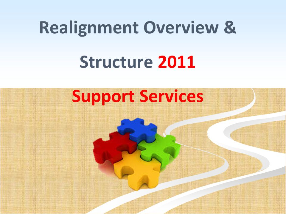 Realignment Overview & Structure 2011 Support Services