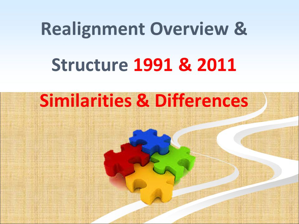 Realignment Overview & Structure 1991 & 2011 Similarities & Differences