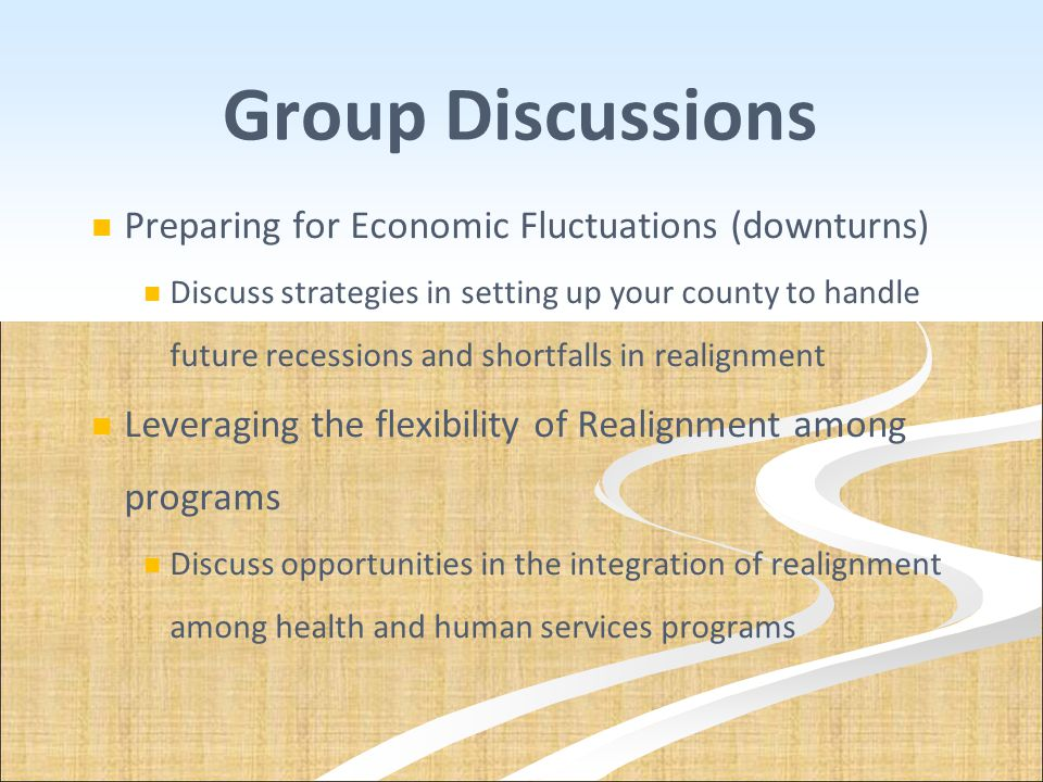 Group Discussions Preparing for Economic Fluctuations (downturns)