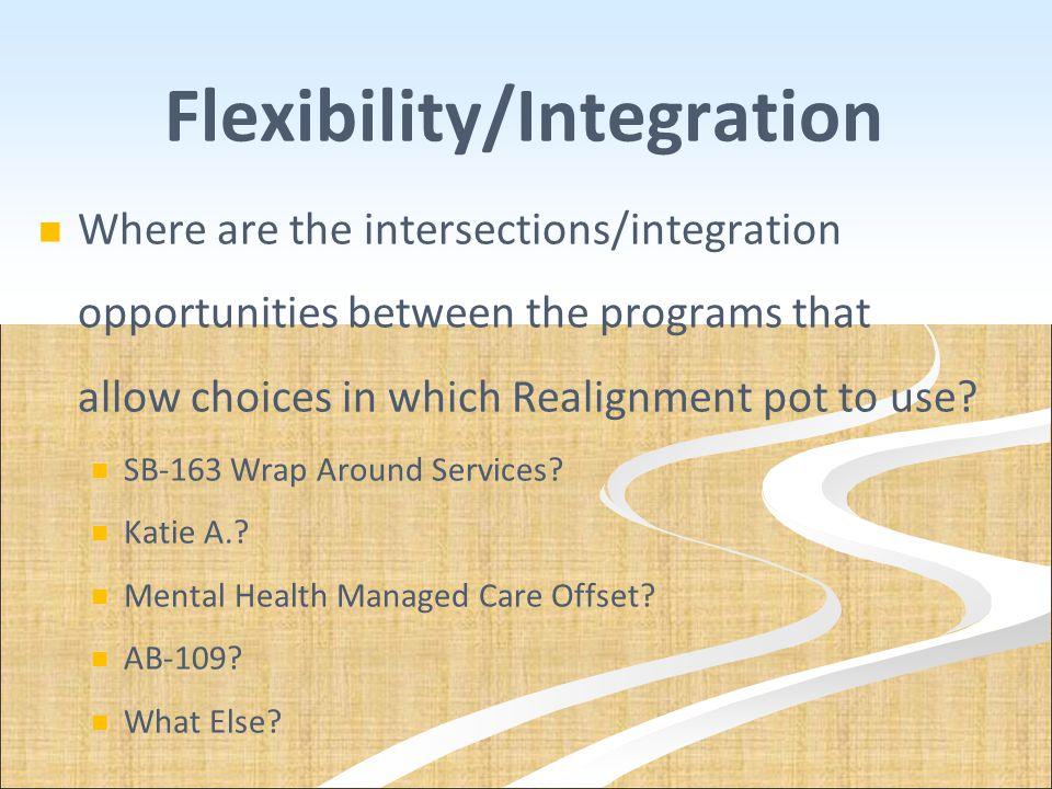 Flexibility/Integration
