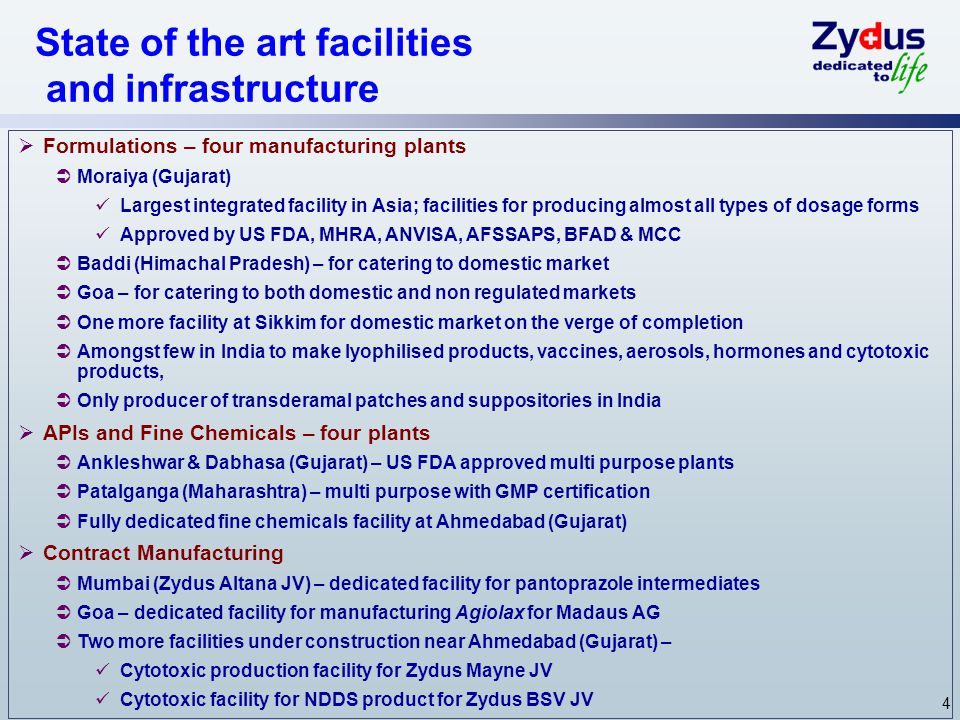 State of the art facilities and infrastructure