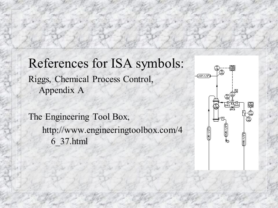 References for ISA symbols: