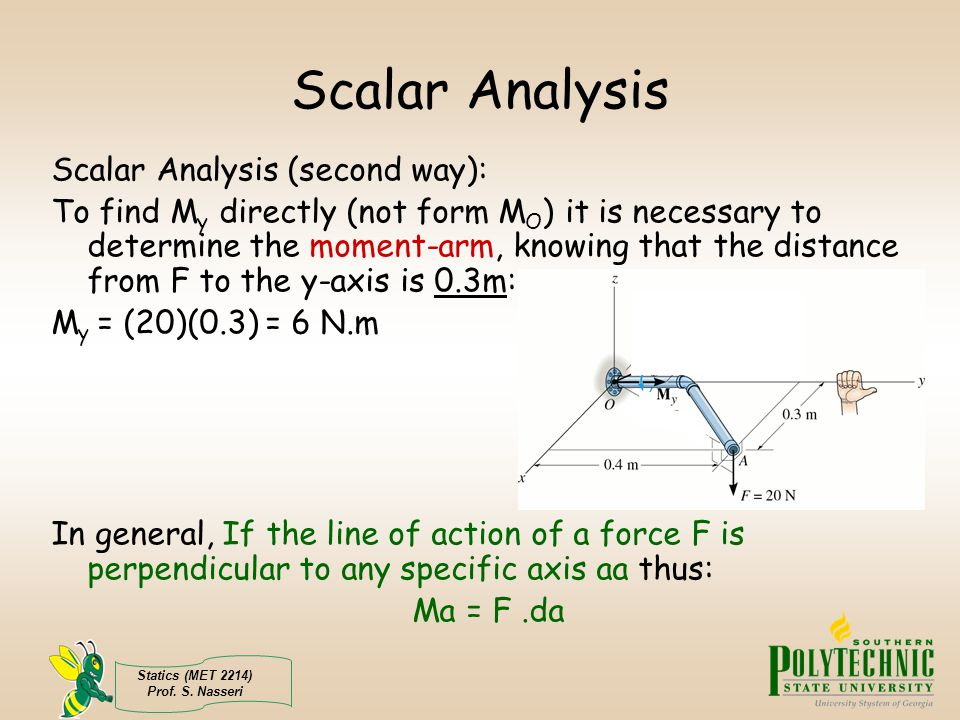 Scalar Analysis Scalar Analysis (second way):
