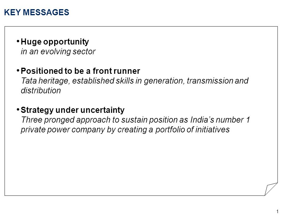 KEY MESSAGES Huge opportunity in an evolving sector.