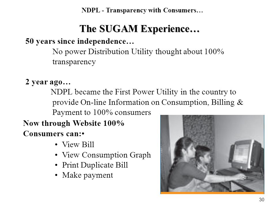 NDPL - Enhancing Consumer Convenience Consumer Care and Communication
