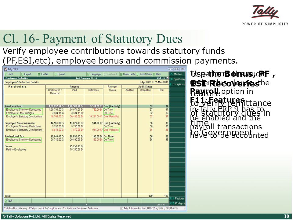 Cl. 16- Payment of Statutory Dues