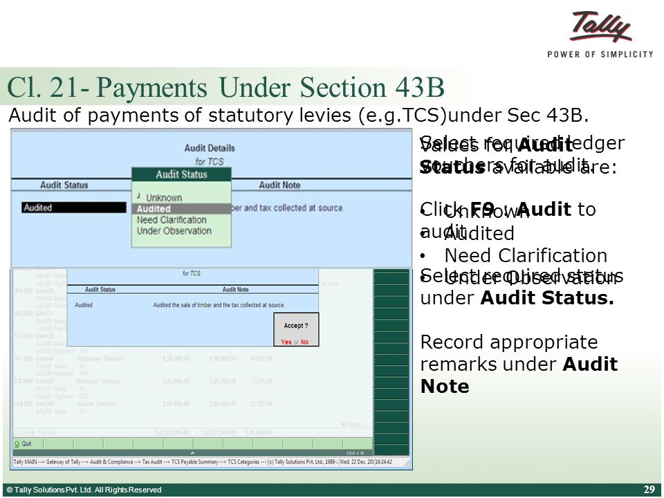 Cl. 21- Payments Under Section 43B