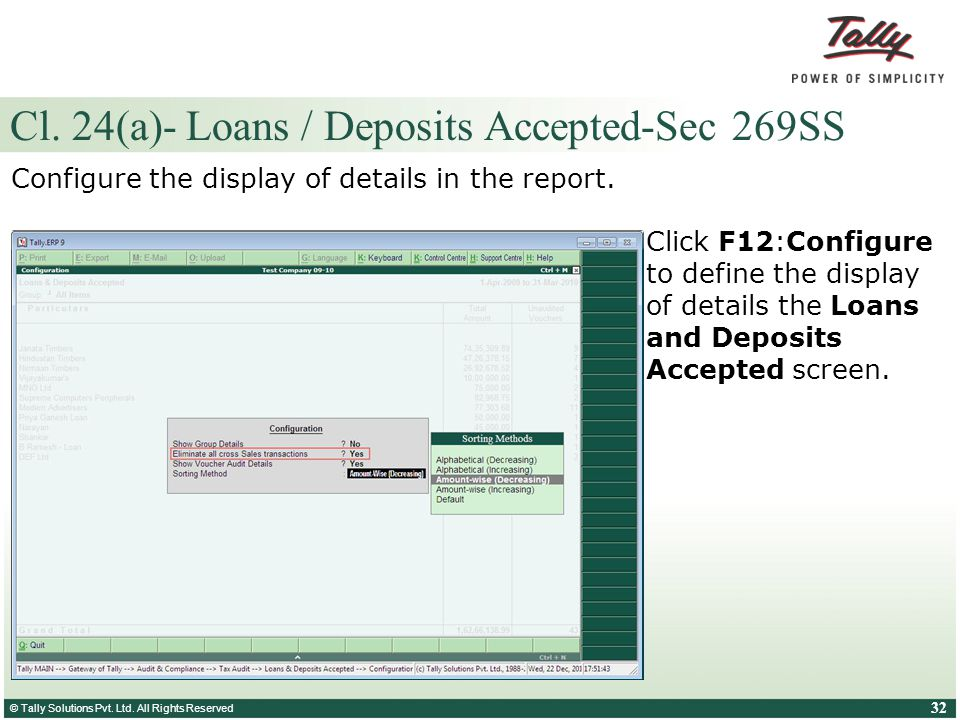 Cl. 24(a)- Loans / Deposits Accepted-Sec 269SS